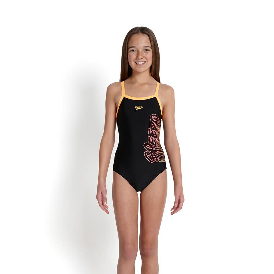 ce04fd64b Malla de natación Speedo Placement Thinstrap. Malla de natación speedo para  niñas.